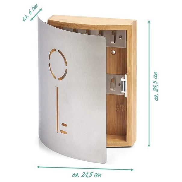 Skříňka na klíče 13846 přírodní kaučukovník/ocel 4