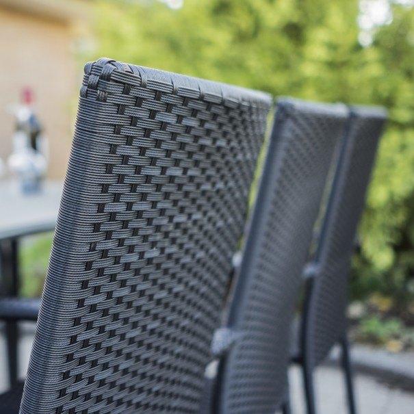 Zahradní židle ACAPULCO černá 7