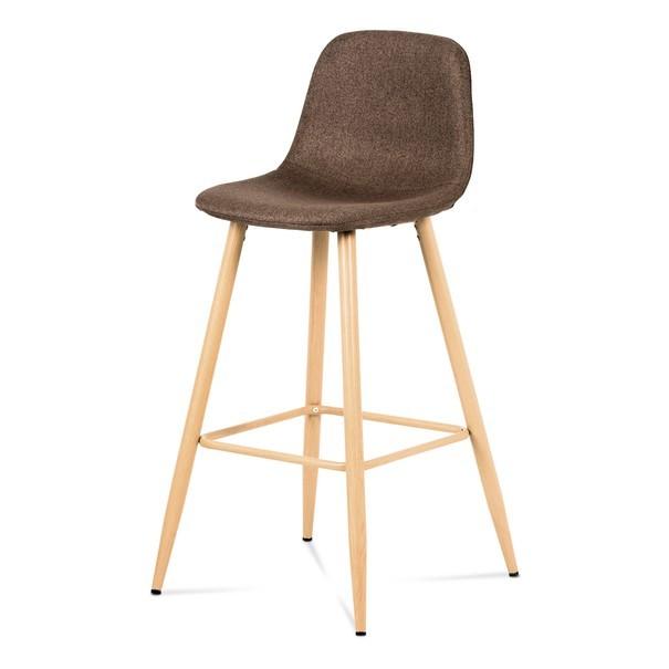 Barová stolička ADRIANNE hnedá/dub 1