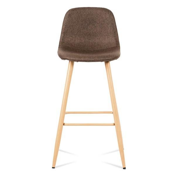 Barová stolička ADRIANNE hnedá/dub 2