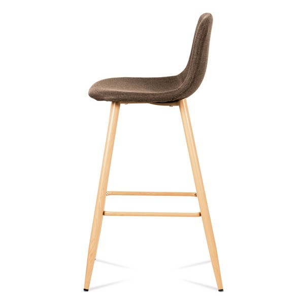 Barová stolička ADRIANNE hnedá/dub 3