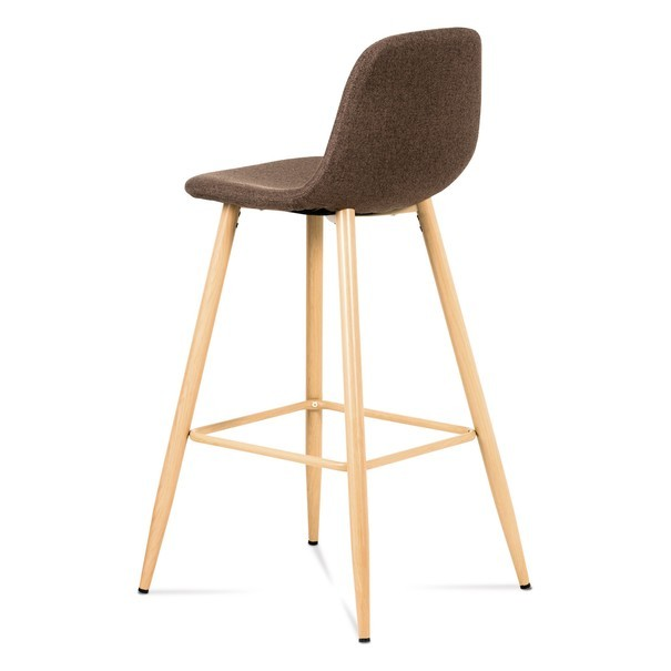 Barová stolička ADRIANNE hnedá/dub 4