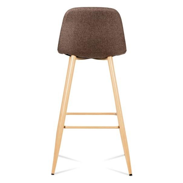 Barová stolička ADRIANNE hnedá/dub 5