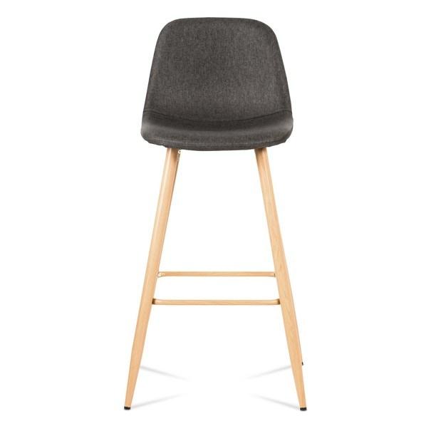 Barová židle ADRIANNE šedá/dub 2