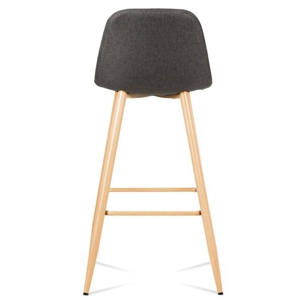 Barová židle ADRIANNE šedá/dub 5