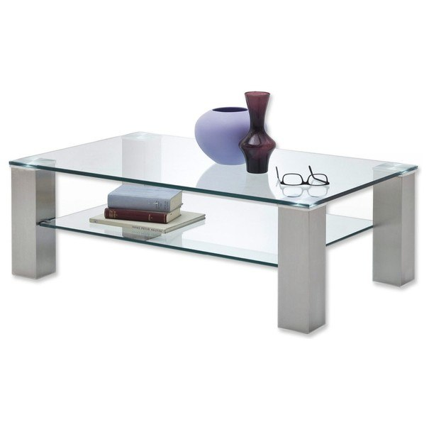Konferenční stolek AIDAN II sklo/ocel 2