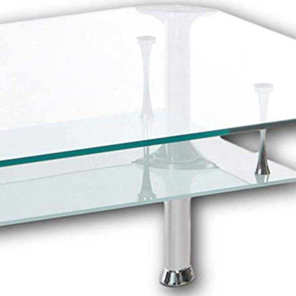 Konferenční stolek ALBERTO čiré sklo/kov 2