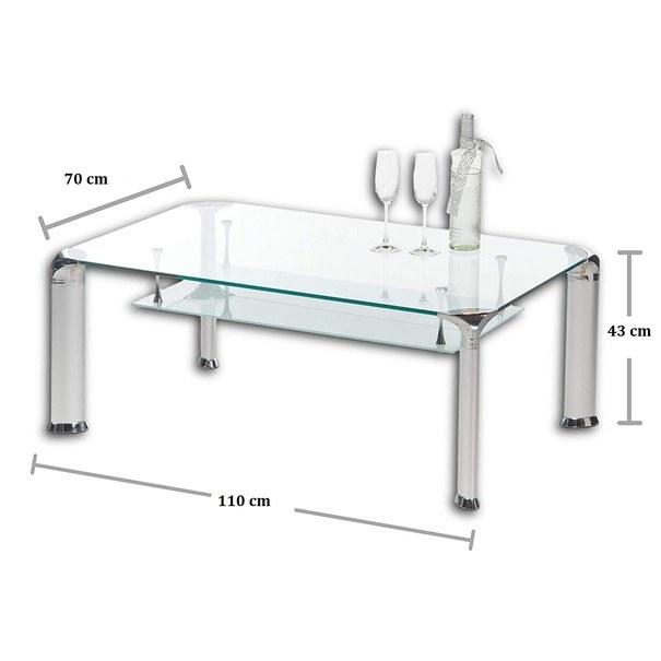 Konferenční stolek ALBERTO čiré sklo/kov 4