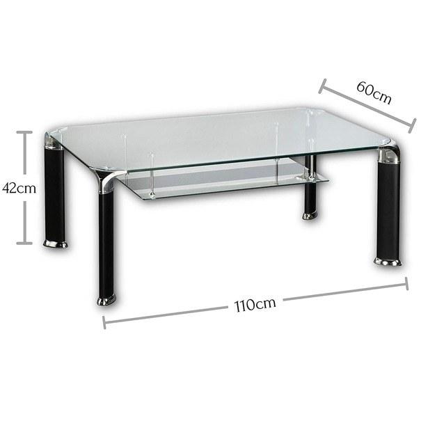 Konferenční stolek ALBERTO čiré sklo/černá 5