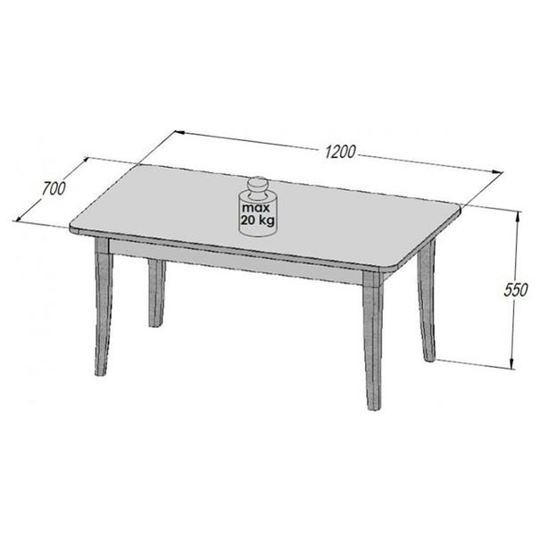 Konferenční stolek ALEXANDRIA 51 dub sněhobílý 3