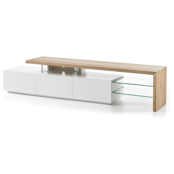 Sconto TV stolík ALEXIS dub/biela