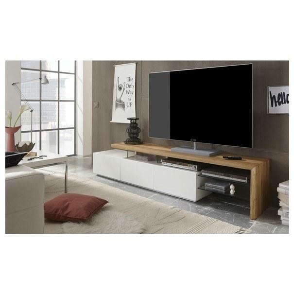 TV stolek ALEXIS dub/bílá 2