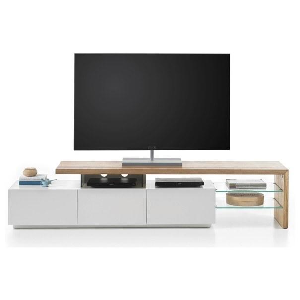 TV stolek ALEXIS dub/bílá 3