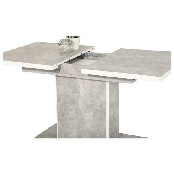 Stôl ALICE T betón/biela 2
