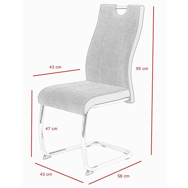 Jídelní židle ALINA S šedá 7