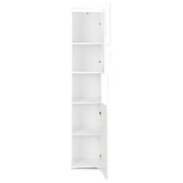 Vysoká skříňka AMANDA bílá 2