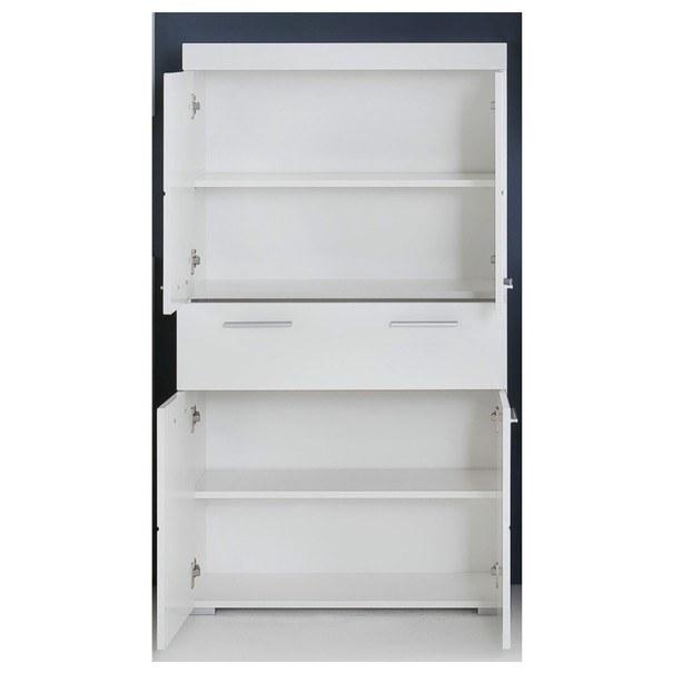 Koupelnová široká skříň AMANDA bílá 2