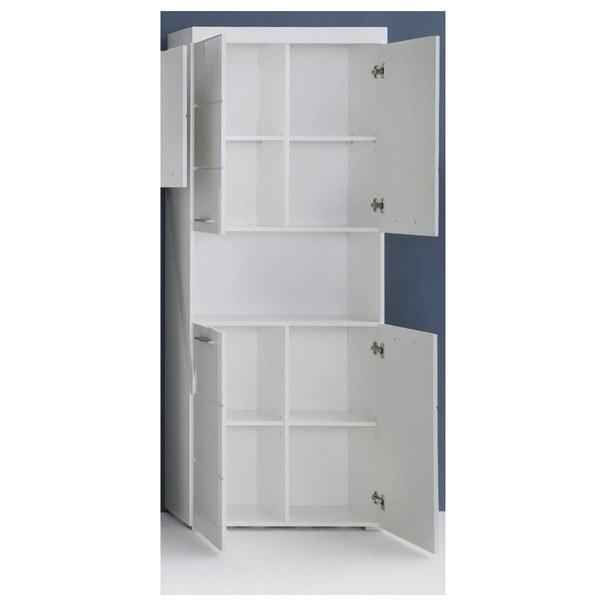 Koupelnová vysoká skříň  AMANDA bílá 2