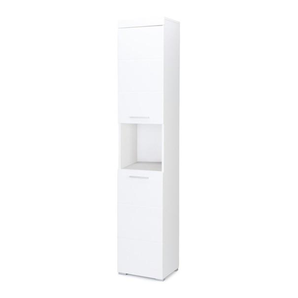 Vysoká skříňka AMANDA bílá 1