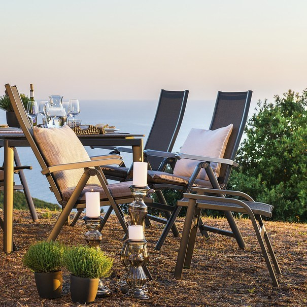 Záhradná stolička AMICO sivá 2