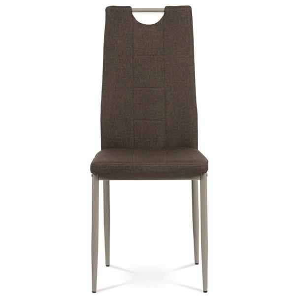 Jedálenská stolička AMINA hnedá/cappuccino 2