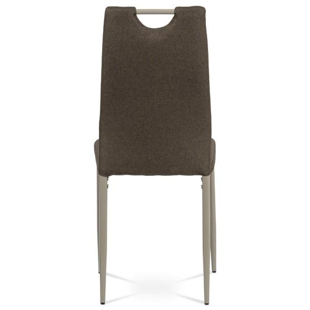 Jídelní židle AMINA hnědá/cappuccino 5