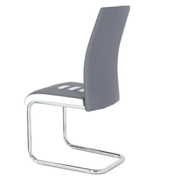 Jedálenská stolička ANASTASIA sivá/biela 2