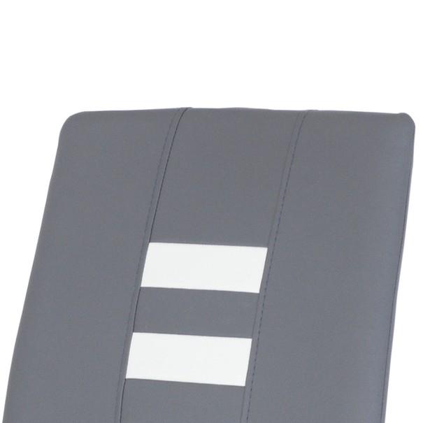 Jedálenská stolička ANASTASIA sivá/biela 4