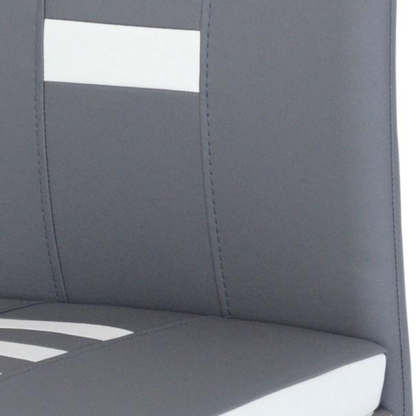 Jedálenská stolička ANASTASIA sivá/biela 5