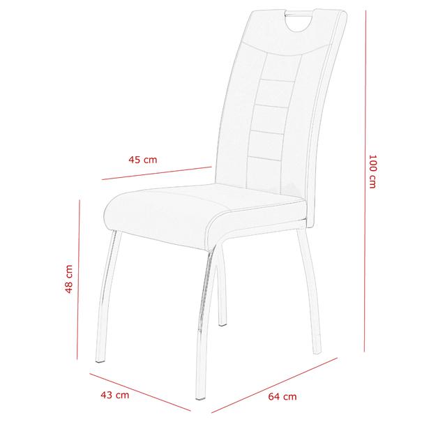 Jedálenská stolička ANDREA S cappuccino 8