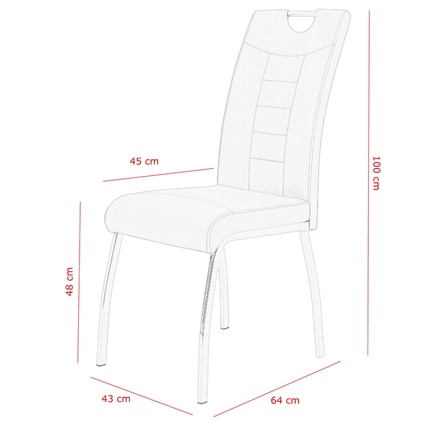 Jídelní židle ANDREA S šedá 8