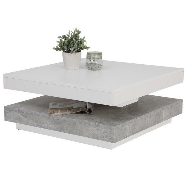 Konferenční stolek ANDY bílá/beton 1