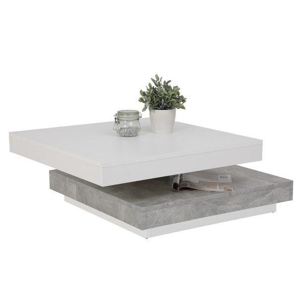 Konferenční stolek ANDY bílá/beton 2