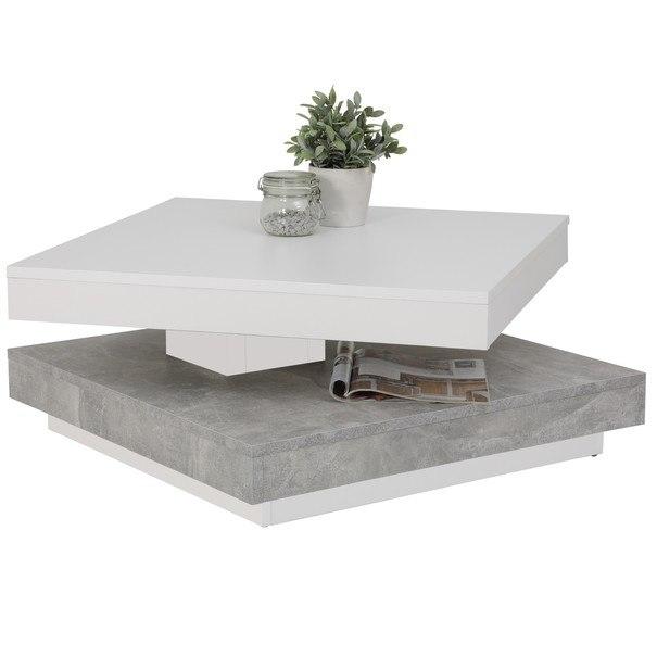 Konferenční stolek ANDY bílá/beton 3