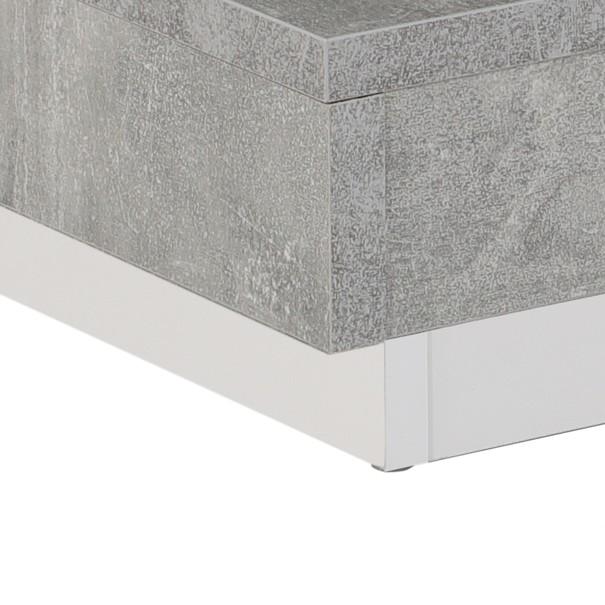 Konferenční stolek ANDY bílá/beton 5