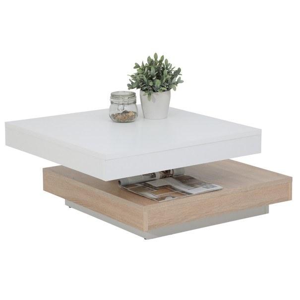 Konferenční stolek ANDY bíla/dub sonoma 3