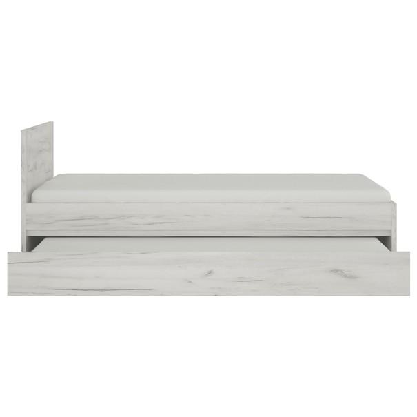 Posteľ  ANGEL 90 dub craft biely, 90x200 cm 5