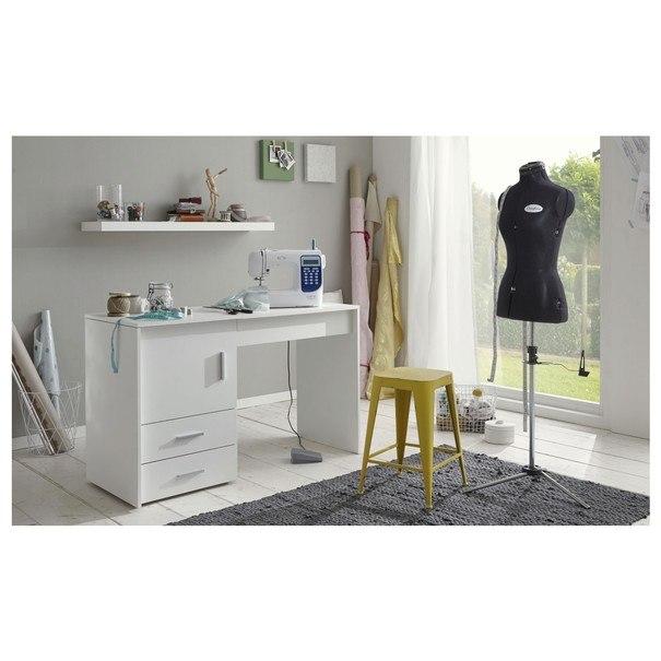 Pracovní stůl na šicí stroj ANGERS  bílá 2