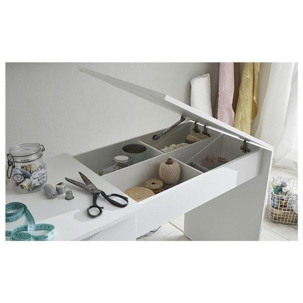 Pracovní stůl na šicí stroj ANGERS  bílá 7