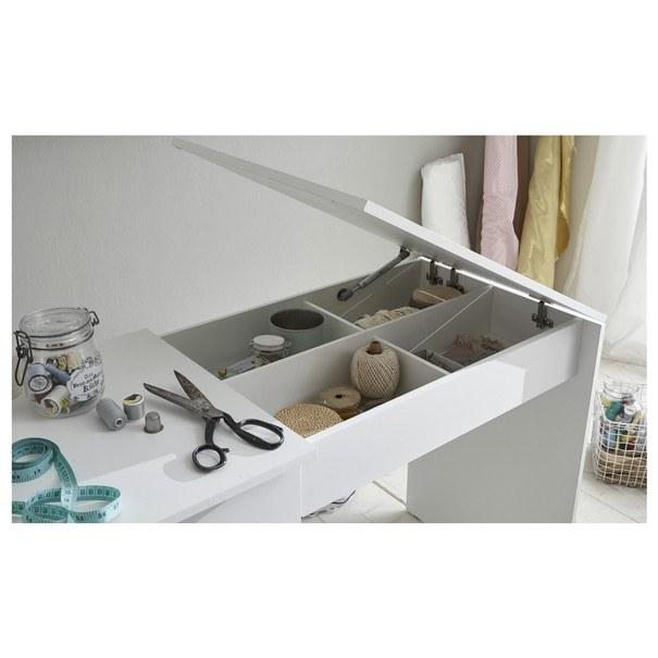 Pracovní stůl na šicí stroj ANGERS  bílá 8