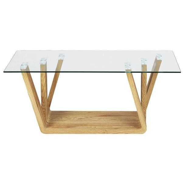 Konferenčný stolík ANTIA dub/sklo 1