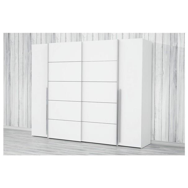 Šatní skříň ARAGON bílá, dub sonoma 5