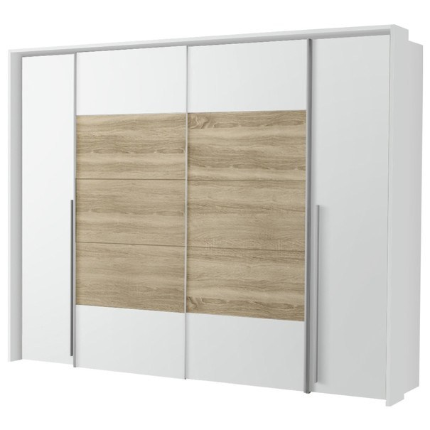 Šatní skříň ARAGON bílá, dub sonoma 7