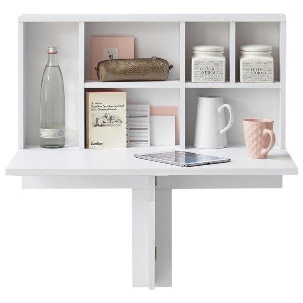 Sklápěcí stolek s poličkou ARTA 2 bílá 1