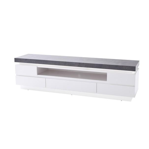 Sconto TV stolík ATREJU biela/betón