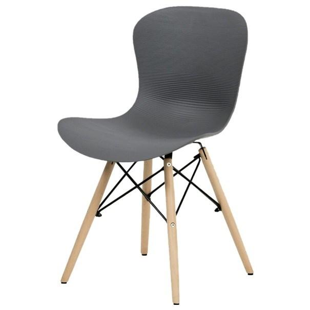 Jedálenská stolička AUGUSTA sivá/prírodná 1