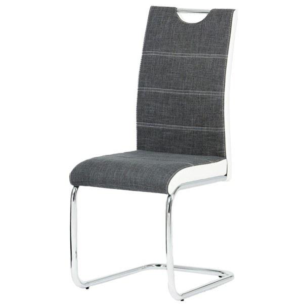 Jídelní židle AZURA bílo-šedá 1