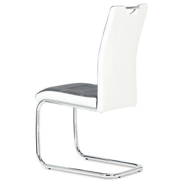 Jídelní židle AZURA bílo-šedá 2