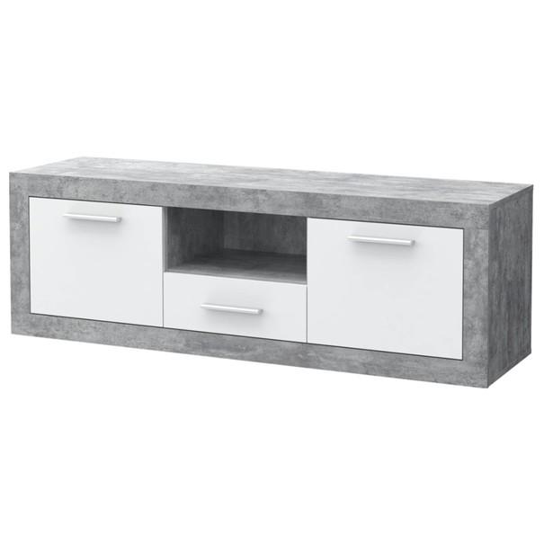 TV stolek BACCIO bílá/beton 1