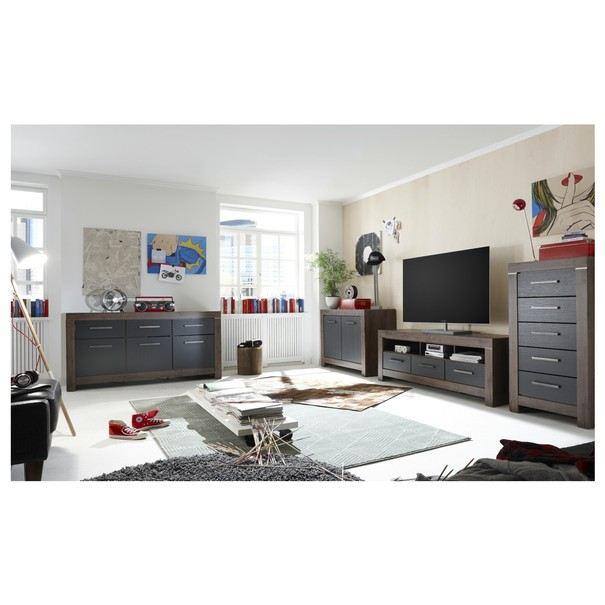 TV stolek BALIN dub canyon/černý dub 2